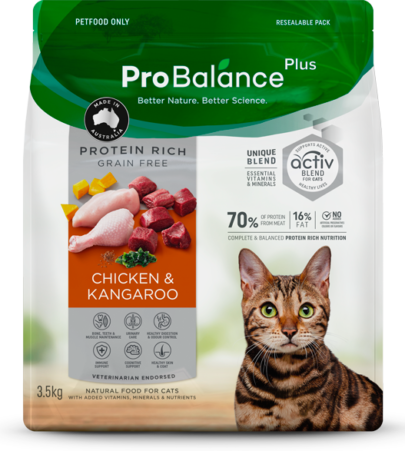 Protein Rich Dry Cat Food Adult Chicken & Kangaroo