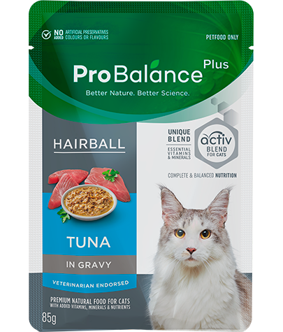 Care Range Wet Cat Food Hairball Tuna in Gravy